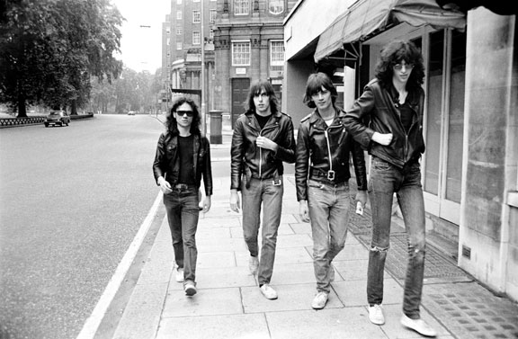 Ramones in Park Lane - Copyright Danny Fields