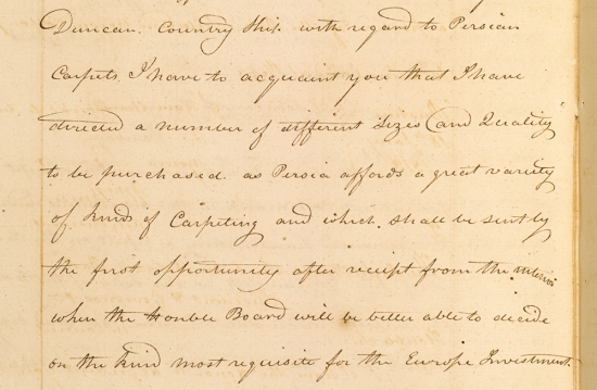 Extract of a letter from William Bruce, Acting Resident at Bushire to Francis Warden, Chief Secretary to the Government, Bombay, 17 January 1813