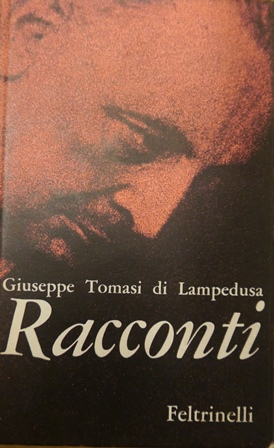 Cover of Lampedusa's 'Racconti' with a photgraph of the author