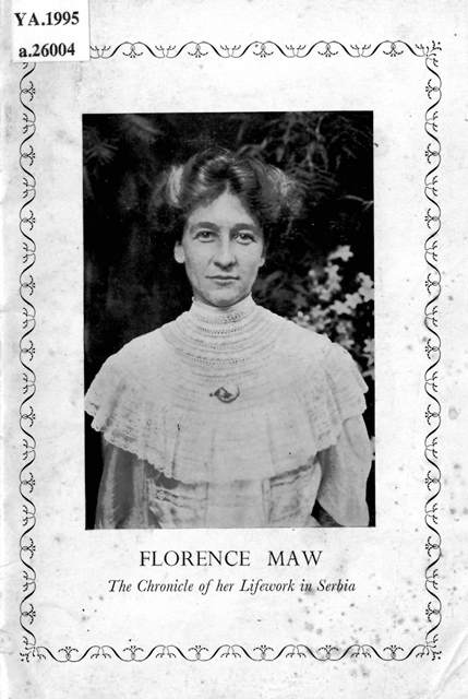 Book cover with a photograph of Florence Maw
