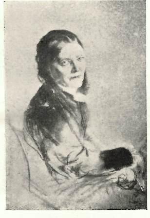 Portrait of Malwida von Meysenbug in old age