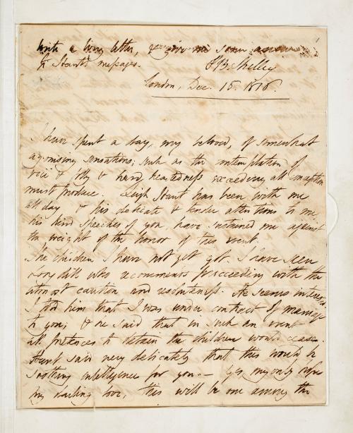 Shelley to Mary Godwin