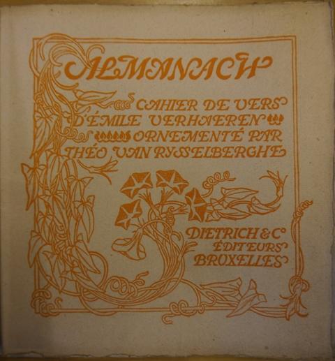 Verhaeren Almanach KTC.8.a.9. cover