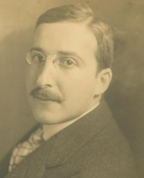 Photograph of Stefan Zweig in 1912