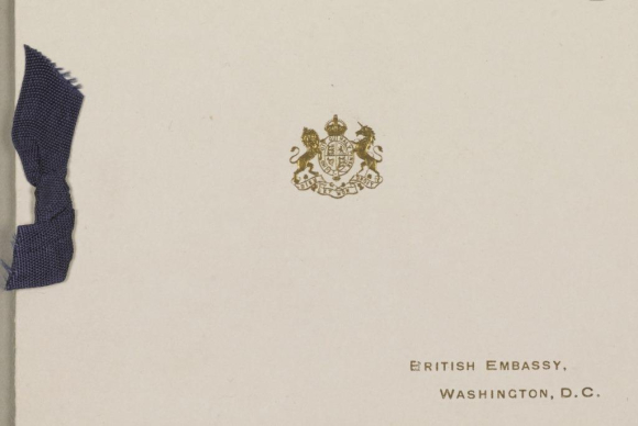 British Embassy Washington Christmas Card Cover