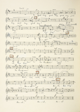 Benjamin Britten A Boy was Born folio 34 verso