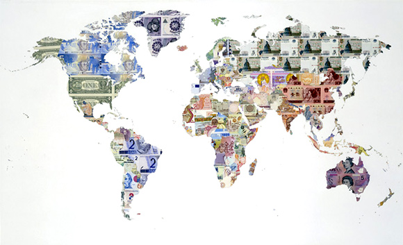 My First Map Was Money Of The World 2005 Above Where Every Country Who Has A Banknote Is Featured On Down To Smallest Island State Or