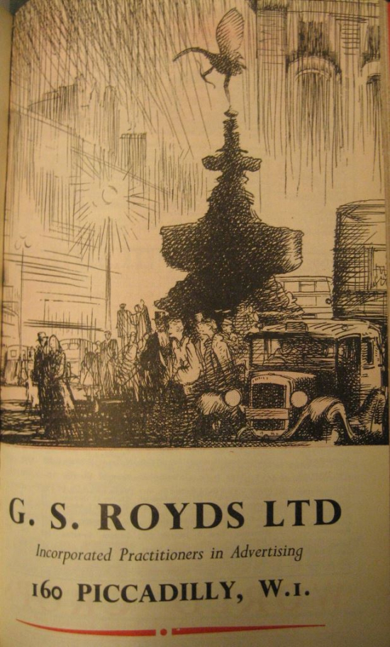 Advertisement promoting G. S. Royds Ltd