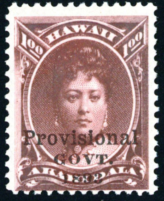 Queen Emma Kaleleonalani - portrait on stamp