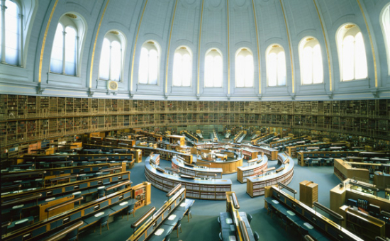 Photograph of the Round Reading Room of the British Museum