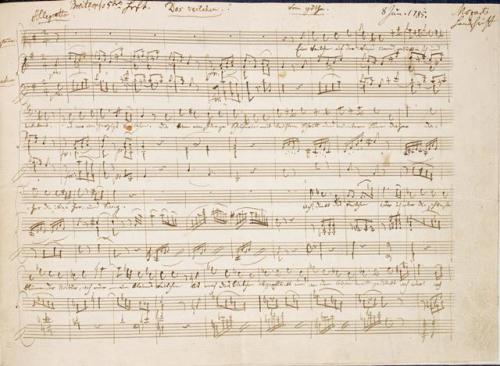 Mozart, Das Veilchen Zweig MS 56