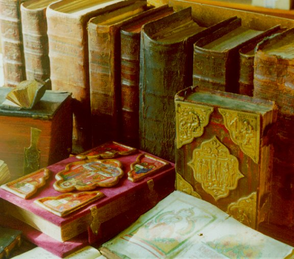 A selection of manuscripts.