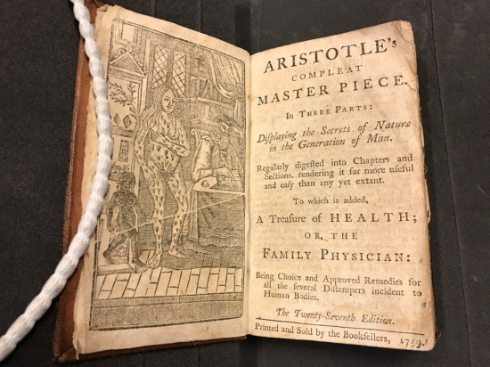 Title page of Aristotle's Compleat Master Piece