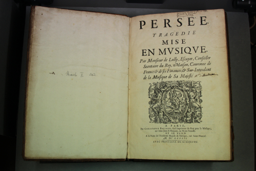 allard's score of Persée (Paris, 1682)
