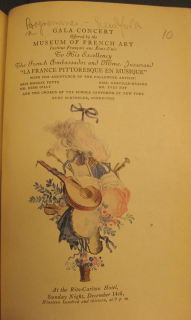 French Museum Concert Programme