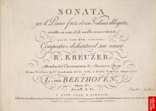 Beethoven Kretuzer Sonata title page