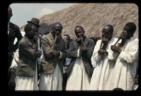 Toro flute set  kasule  uganda  July 1954