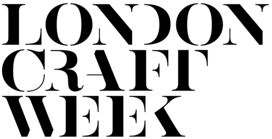The logo for London Craft Week, which is those characters in Black bold capitalised text on a white background.