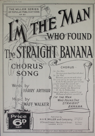 I'm the man who found the straight banana title page