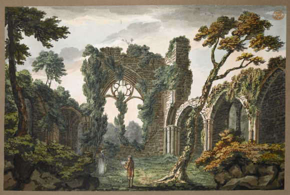 Interior view of the east end of Netley Abbey near Southampton