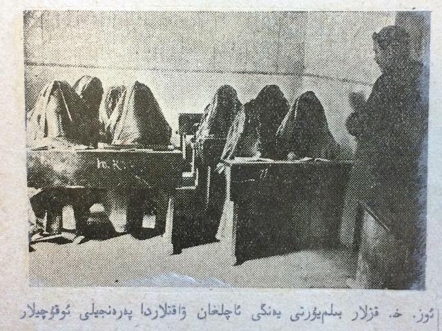 Yangi Yol - Veiled Female Students at a New School in Uzbekistan