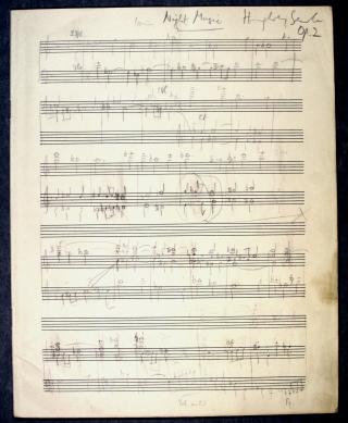 Humphrey Searle 'Night Music' pencil score