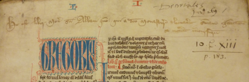 British Library  Royal MS 10 C XIII  f. 1r