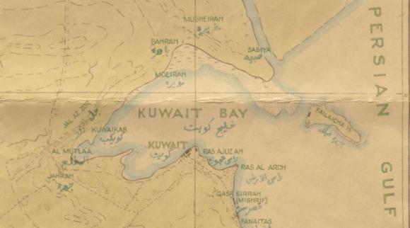 Map of Kuwait circa 1930