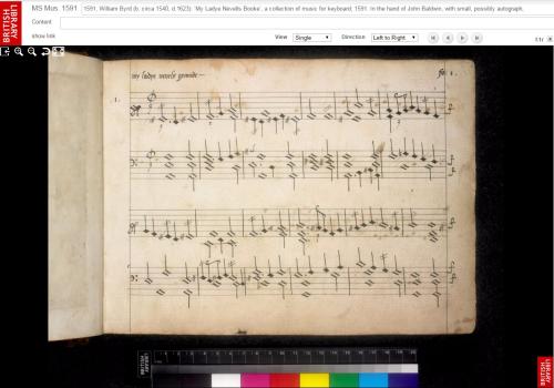 My Ladye Nevells Books MS Mus 1591