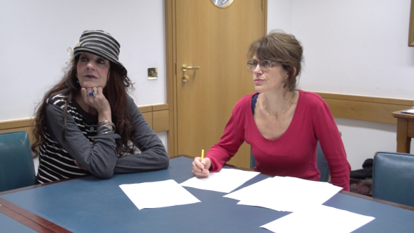 Rebecca Tremain and Penny Dimond at the British Library