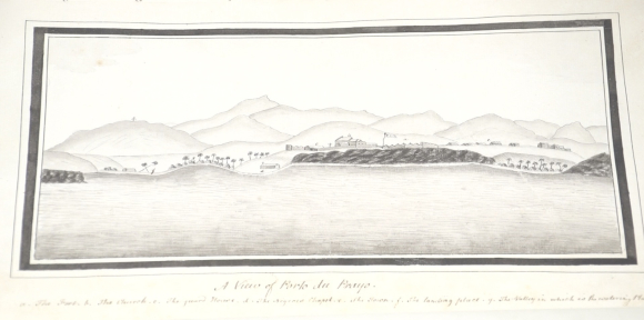 View of shore from a ship