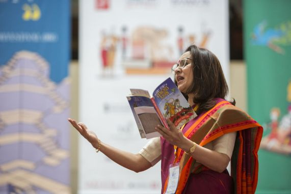 Nayanika Mahtani in Meet the Mongols_ZEE JLF@British Library_INDIA UK YEAR OF CULTURE_Photo Stuart Armitt 3 - SMALLER