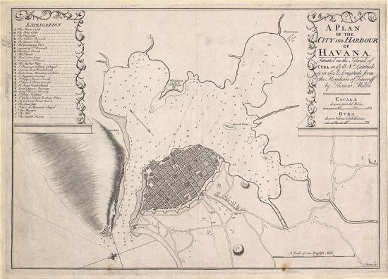 Plan of city and harbour of Havana