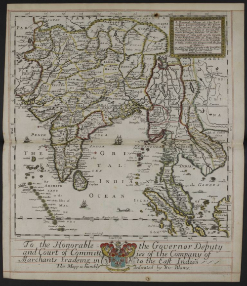 Map of the East Indies presented to the EIC