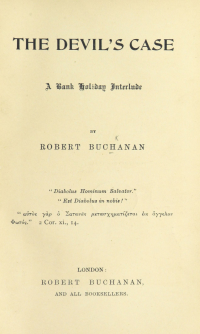 Title page of The Devil's Case