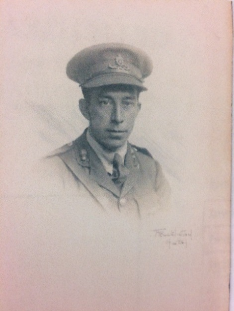 Portrait photograph of Albert in his uniform