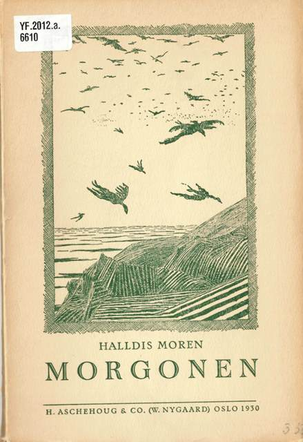 Cover of 'Morgonen' with an illustration of birds flying over a coastal landscape