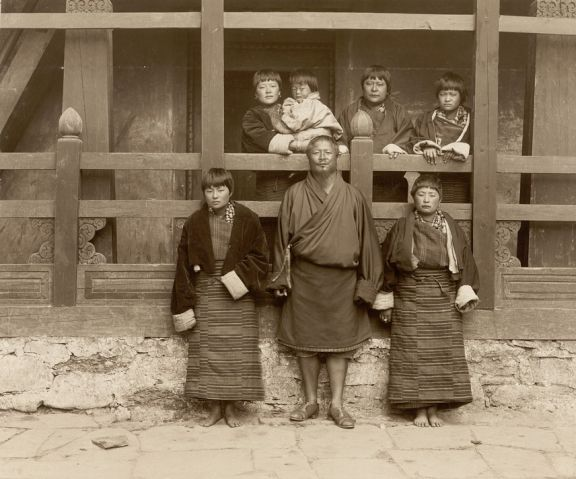 Ugyen Wangchuk with his family.