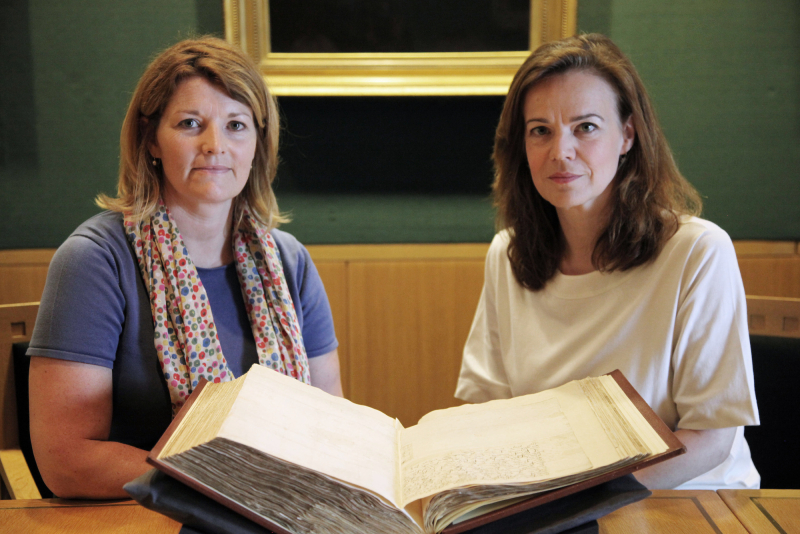 Dr Andrea Clarke and Helen Castor at the British Library %28c%29 DSP & BBC (2)