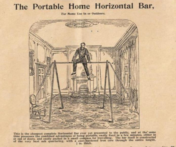 Advert showing man using Home Horizontal Bar