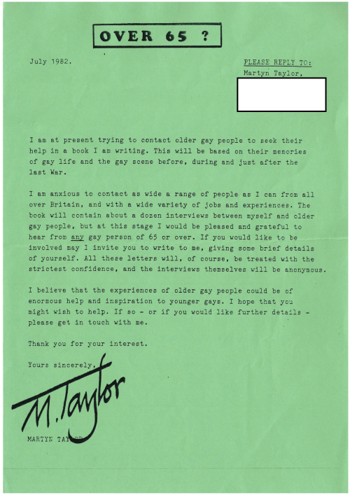 Martyn Taylor advert redacted