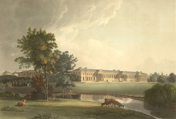 View of Haileybury College in Hertfordshire, 1810