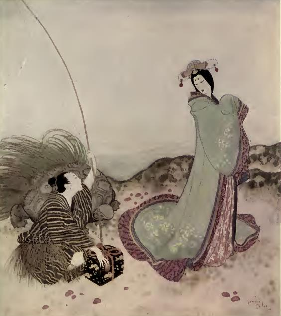 Urashima Taro from Edmund Dulac's Fairy-Book: Fairy Tales of the Allied Nations