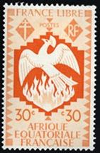 French Equatorial Africa 1941 Free French Issue 30 cent