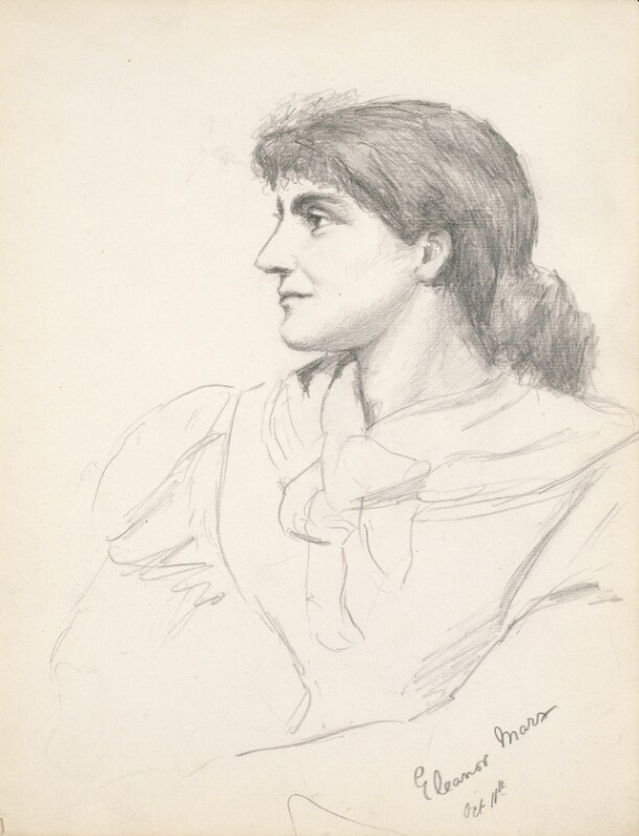Portrait drawing of Eleanor Marx