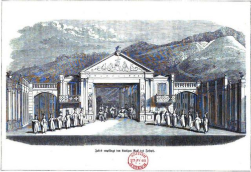 Tableau of Jacob and his sons from an 1850 performance of the play