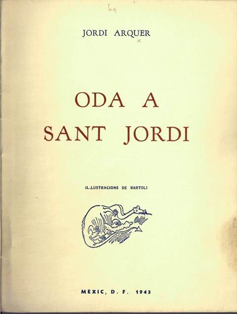 Cover of 'Oda a Sant Jordi' with a cartoonish vignette of a dragon