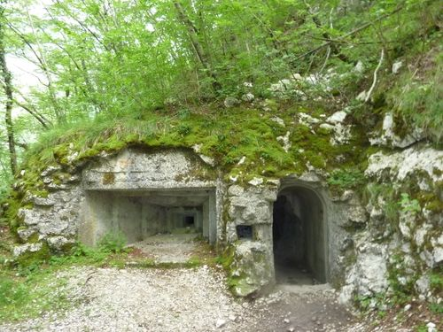 The remains of First World War fortifications