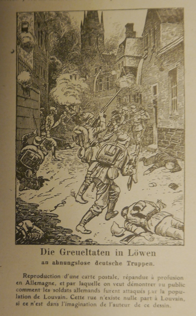 Illustration of soldiers being attacked by snipers in a narrow street