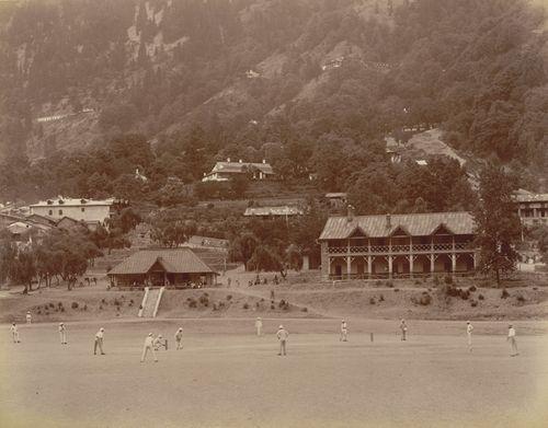 Cricket match at Naini Tal